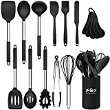 Kitchen Utensils Set,ZGO 17-Piece Silicone Cooking Utensils Set with Holder,Heat Resistant Utensils...