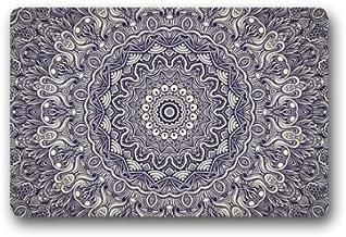 Shirley de la Puerta Alfombrillas Top y Tela Antideslizante Felpudo de Goma Resistente para Interiores/Exteriores Felpudo Puerta esteras–Mandala Art diseño de impresión 23,6cm (L) X 39,88cm (W)