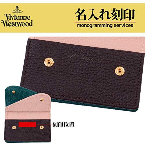 [名入れ可]ヴィヴィアンウエストウッドVivienneWestwood正規品ダブルフラップレザーカードケース名刺入れマルチカラー本革(名入れなし,グリーン)