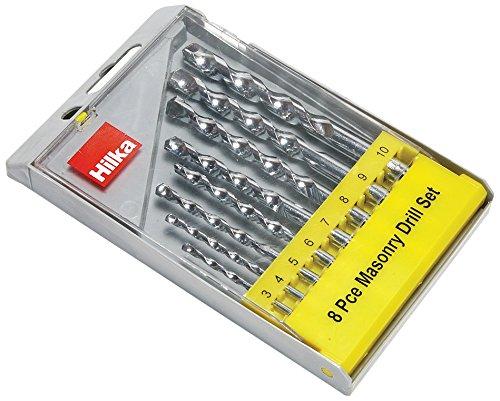 Hilka 49808008 Masonry Drill Bit Set, Set of 8 Pieces