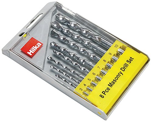 Hilka 49808008 Masonry Drill Bit Set, Set of 8 Pieces