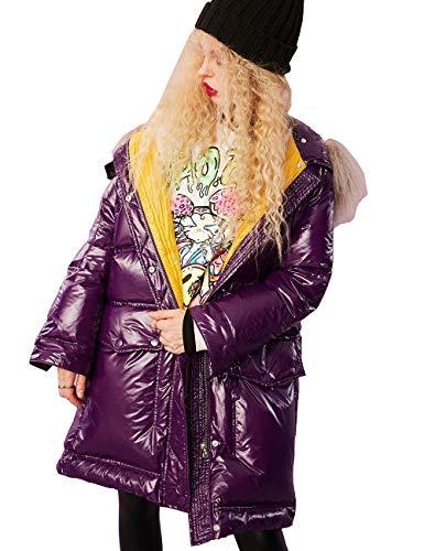 Elf zak dames winter parka donsjas XXL kraag van 100% echt bont/echt bont capuchon casual gewatteerde mantel wintermantel