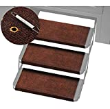 wadoy RV Step Covers Wrap Around, Camper RV Step Rug 22 in Wide, Carpet for RV Steps, Trailer Step Covers, RV Wrap Around Step Covers