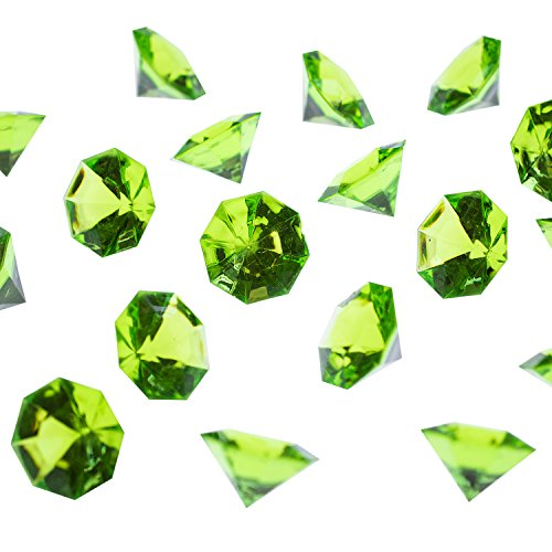 Super Z Outlet Acrylic Colorful Round Treasure Gemstones for Table Scatter, Vase Fillers, Event, Wedding, Arts & Crafts, Birthday Decorations Favor (36 Pieces) (Apple Green)