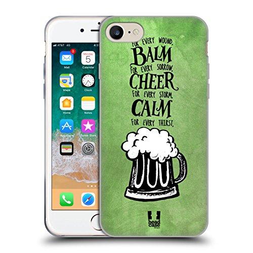 Head Case Designs Birra Irish Craic Cover in Morbido Gel e Sfondo di Design Abbinato Compatibile con Apple iPhone 7 / iPhone 8 / iPhone SE 2020
