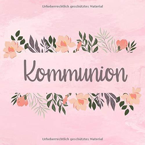 Kommunion: Gästebuch zum selbst ausfüllen | Geschenk zur Kommunion |Gästebuch zum eintragen mit...
