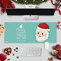 クリスマス特大マウスパッドキーボードパッドコンピューターパッドかわいいデスクパッド防水クリスマスギフトビッグマウスパッド-サンタクロース:75x30cm