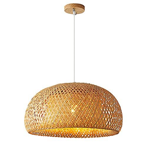 SDUYTEG Lámpara Colgante Tejida De Bambú Ajustable con Base E27 Lámparas Colgantes Creativas Japonesas Balcón Lámparas De Iluminación Colgante Lineal para Comedor