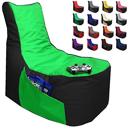 Sitzsack Gamer Lounge Uni Farbe & 2-farbig mit Füllung Ø 85-90cm Gaming BeanBag...