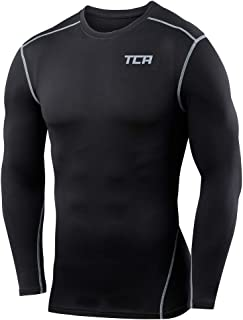 Men's & Boy's Pro Performance Compression Shirt Long Sleeve Base Layer Thermal Top - Crew/Mock Neck