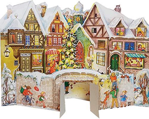 Nostalgischer Adventskalender / Weihnachtskalender mit Bildern und Glimmer