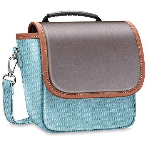 Fintie Carrying Case Compatible with Polaroid Originals OneStep+, Onestep 2 VF, Now I-Type Instant Film Camera - Premium Vegan Leather Travel Bag Pouch Removable Strap & Pocket (Denim Turquoise)