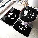 Um-brella A-Cademy Comfort Collections - Juego de alfombrillas de baño con pedestal, alfombra de baño suave, antideslizante, alfombrilla de baño de chocolate, 3 piezas