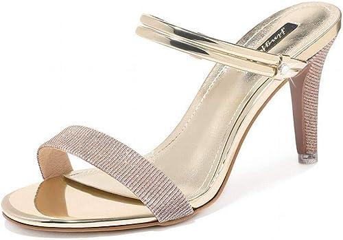 LTN Ltd - - sandals Sandales Stiletto, Or, 34  commander maintenant les prix les plus bas