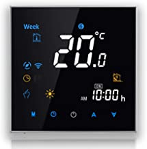 BecaSmart 3000 Series 3/16A LCD Touch Screen Water/Electric/Boiler Heating Intelligent Programming Control Thermostat with...