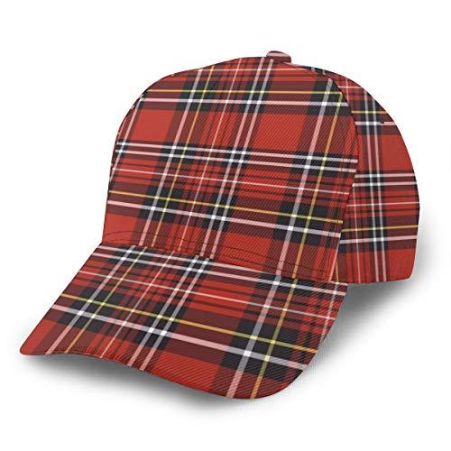 Gorra de béisbol para padre, de la marca NA de cuadros escoceses, uni