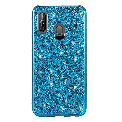 Preisvergleich Produktbild Miagon Glitzer Hülle für Galaxy A40, Überzug Rahmen Stoßfest Glänzend Bling Ultra Schlank Weich Silicone Schutz Case Handyhülle Schutzhülle für Samsung Galaxy A40