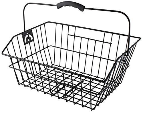 P4B   Hinterrad - Fahrradkorb   Kunststoff-Griffschutz Ergo   Mit Bügel   Einfaches Einhaken am Gepäckträger   Aussparung für Federklappe   Weitmaschiges Stahldrahtgeflecht   In Schwarz