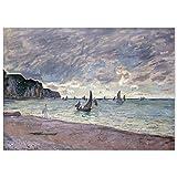 JUNIWORDS Poster, Claude Monet, Fischerboote vor der Küste