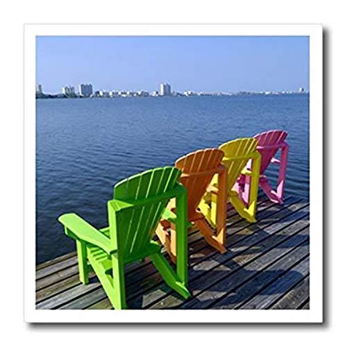 3dRose sillas Adirondack, Playa Naranja, Alabama, Estados...