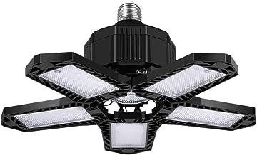 Uonlytech Led-garageverlichting 80 W garagevlochten, met 5 verstelbare panelen van 8000 lumen, voor kelderwerkplaats en sc...