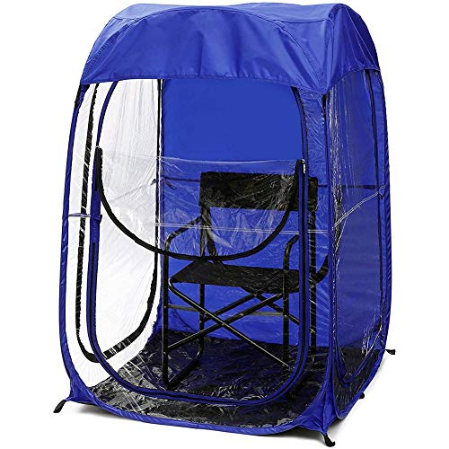 Happt Angelzelt,Wetterfestes Insektensicheres Leichtes Automatisches Popup-Fenster Outdoor Sport Events Watching Tent Double Lightweight Portable Canopy for Fishing(39,37×39,37×59,05 Zoll)