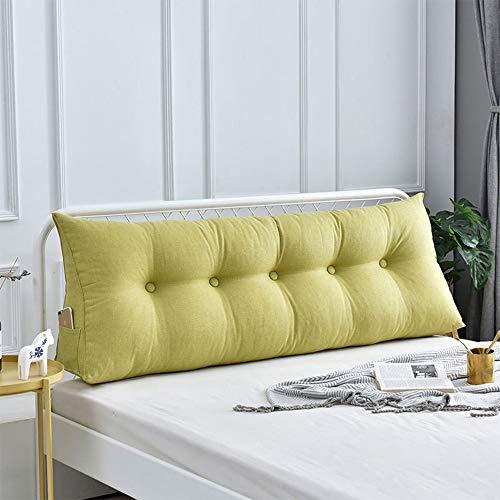 MWKLW Doppeltes Nachttisch-Dreieck-Kissen-Sofabett Großes gefülltes dreieckiges Keil-Kissen-Bett-Rückenlehnen-Leserest-Rückenlehnen-PP-Baumwolle Waschbare Lesekissen