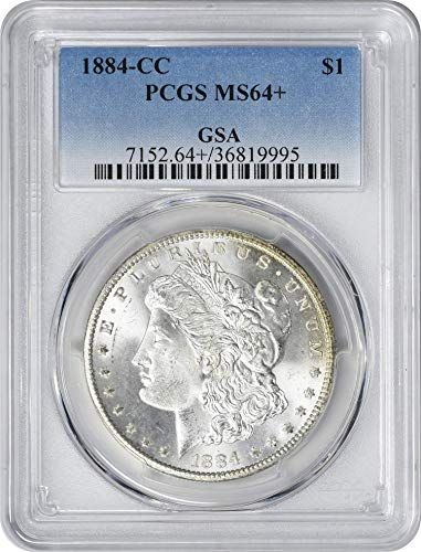 1884-CC Morgan Silver Dollar, MS64+, PCGS