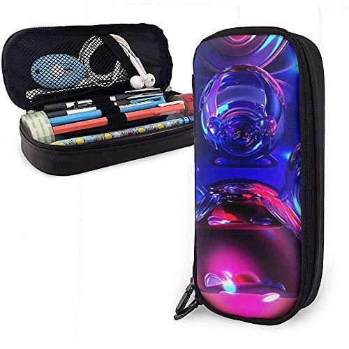 Estuche de lápices Bola de cristal mágica Bolsas de almacenamiento de bolsas de cuero de PU Bolsas de lápices portátiles Bolsas con cremallera