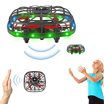 RC Drone, Hand Operated Drones for Kids or Adults, Hands Free Mini Drone, LED Hand Drone Hands Small UFO, Hand Controlled Flying Ball Toys Gifts for Boys and Girls
