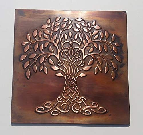 Tree of Life Celtic Wall Tile 100% Copper