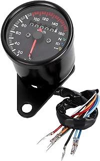 Dual Odometer,Motorcycle Odometer Motorcycle ATV Dual Odometer Speedometer Gauge LED Digital Backlight, 0-160 km/h