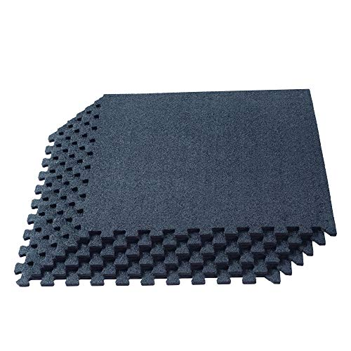 We Sell Mats 3/8 Inch Thick Interlocking Foam Carpet Tiles Durable Carpet Squares Anti Fatigue Support for Home Office or Classroom Use, 24 in x 24 in