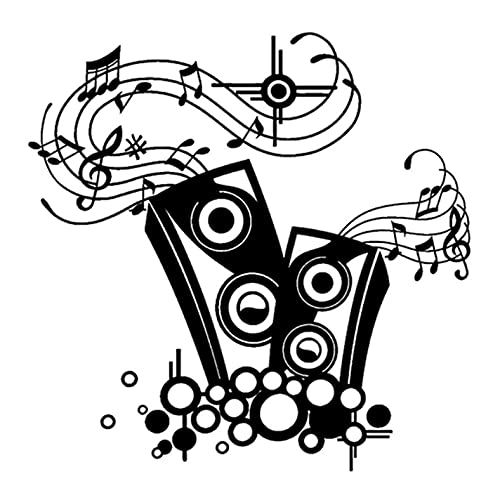 N\C 3 Piezas de Pegatinas y calcomanías para Coche de 17 cm x 16,8 cm, Altavoces para Amantes de la música, Vinilo Autoadhesivo a Prueba de Agua, para Ordenador portátil, Ventana, Pared, Motocicleta