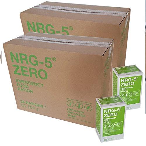 Notverpflegung NRG-5 Glutenfrei Survival 48x 500g Outdoor Notration Notvorsorge | 48x9 Riegel im Vorteilskarton Survivalnahrung Expeditions Grundausstattung wie EPA