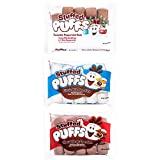 Stuffed Puffs – Hooray for Hot Cocoa Variety 3 Pack (8.6 oz per bag), Chocolate Filled Marshmallows, 1 bag of each delicious flavor, Perfect for Hot Chocolate