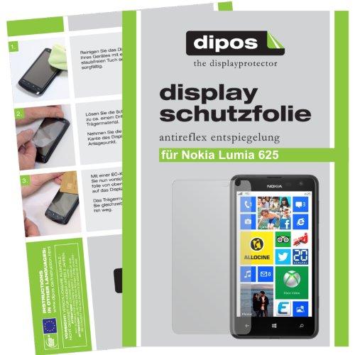 dipos I 2X Schutzfolie matt kompatibel mit Nokia Lumia 625 Folie Bildschirmschutzfolie