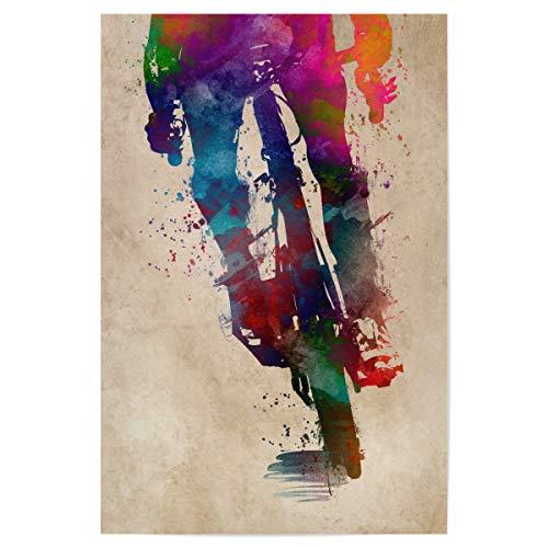 artboxONE Poster 30x20 cm Sport Cycling hochwertiger Design Kunstdruck - Bild Radfahren Cycler dekor