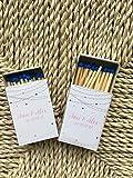 Cajita de Cerillas pequeña personalizada para bodas blancas