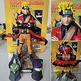 LPJPCR Uzumaki Naruto Sage Modo Figura de acción Juguetes Naruto Shippuden Anime Figurine con Frog Modello da Collezione Doll Doll 220mm