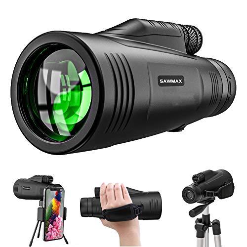 Monocular Telescope 12x50 HD with Quick Smartphone Adapter