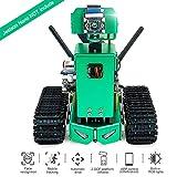 Tank Smart AI Robot Kit WiFi Programación de video inalámbrico Kit de robot de bricolaje electrónico con piloto automático Seguimiento de objetos y reconocimiento de color Compatible con NVIDIA