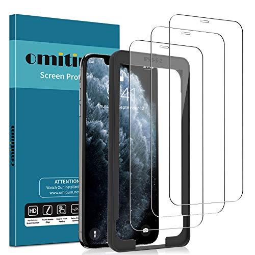 omitium Pellicola Vetro Temperato per iPhone 11 PRO/iPhone XS/iPhone X (5,8'') Pellicola Protettiva iPhone XS [Cornice Allineamento Facile] Senza Bolle 9H Durezza Protezione Schermo iPhone X