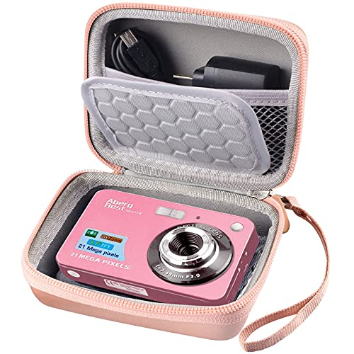 """Digital Camera Case Compatible with AbergBest 21 Mega Pixels 2.7"""" LCD Rechargeable HD/ Kodak Pixpro/ Canon PowerShot ELPH 180 190/Sony DSCW800 / DSCW830, Small Travel Carrying Storage Box Only"""