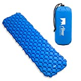 Alma Outdoors Sleeping Pad for Camping - Ultralight Sleeping Pad for Backpacking, Travel, Hiking and Camping - Heavy Duty Sleep Pad, Inflatable Air Mattress, Lightweight and Compact Air Pads with Bag