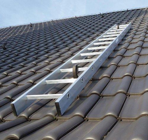 Kaminkehrerleiter Dachleiter Aluminium 20 Sprossen 5,60m
