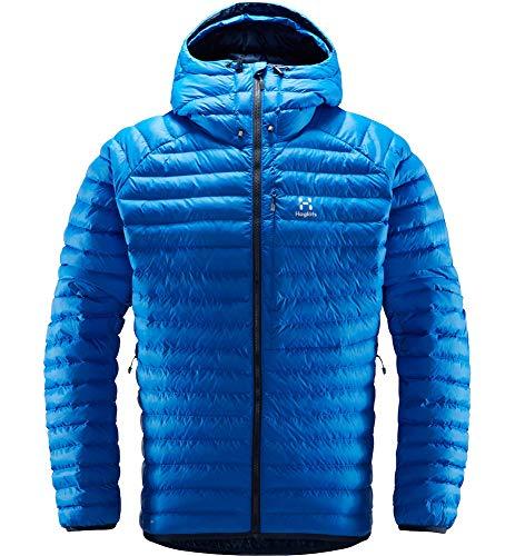 Haglöfs Essens Mimic Hood Chaqueta De Pluma Sintética para Hombre, Storm Blue/Tarn Blue, L