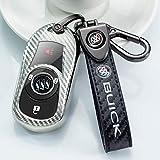 Soft TPU carbon fiber Key fob cover for Buick Verano Encore Envision Regal Lacross Enclave GL8 2015 2016 2017 2018 2 3 4 5 Buttons Key cover key case compatible smart remote control Key Holder.