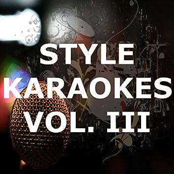 Style Karaokes (Vol. III)