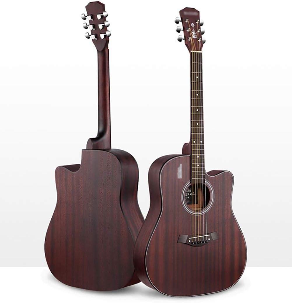 YYLL Guitarra Retro Sapele guitarra, guitarra acústica acústica, principiantes autodidacta que toca la guitarra, la guitarra de 41 pulgadas de madera de superficie mate Instrumento de cuerdas, for los